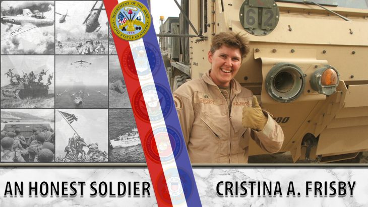Christina Frisby served in Iraq with the California National Guard.