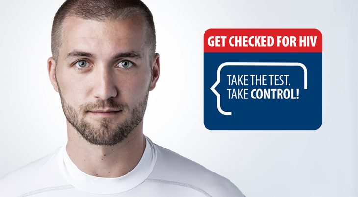 Man with HIV test graphic