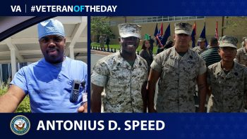 Navy Veteran Antonius D. Speed is today's Veteran of the Day.