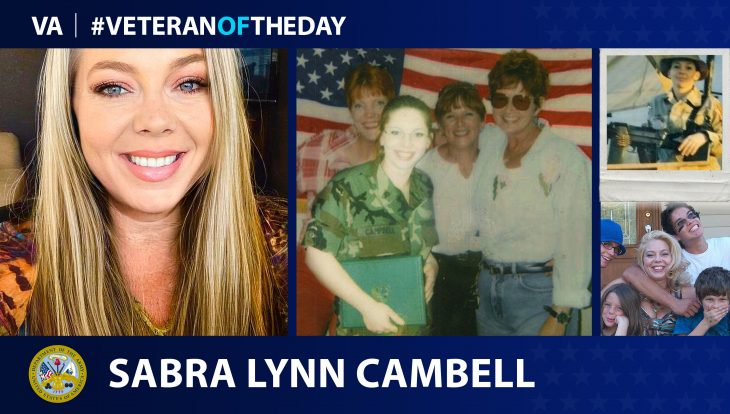 Army Veteran Sabra Lynn Campbell is today's Veteran of the Day.