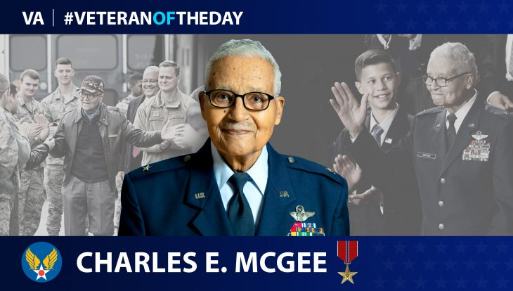 Air Force Veteran Charles Edward McGee is today's Veteran of the Day.