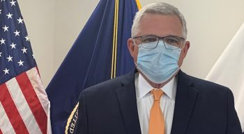 Dr. Richard Stone wearing a face mask