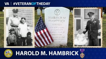 Army Veteran Harold Michael Hambrick is today's Veteran of the Day.