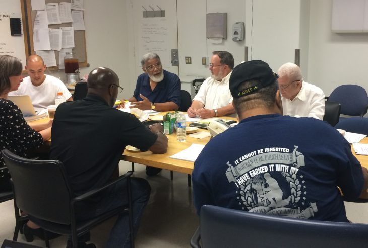 A Veteran Engagement Group meets at the Eastern Colorado Healthcare System in 2017.