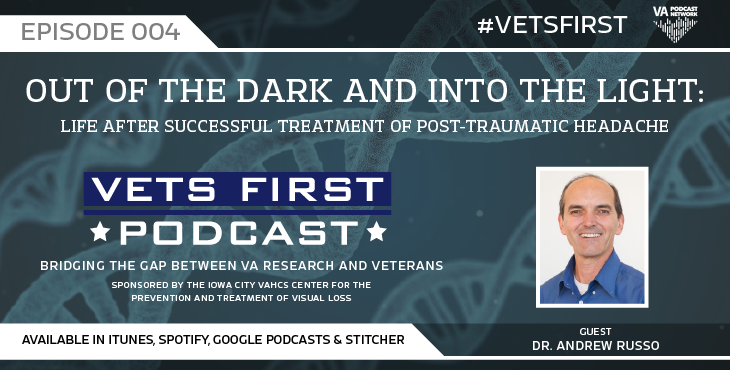 In this episode, an anonymous Veteran talks about her struggle with light sensitivity and headache after a traumatic brain injury.