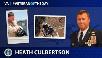 Air Force Veteran Heath Culbertson is today's Veteran of the Day.
