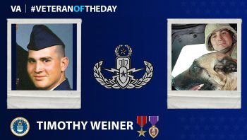 Air Force Veteran Timothy Weiner is today's Veteran of the Day.