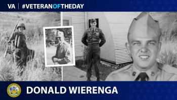 Army Veteran Donald Jay Wierenga is today's Veteran of the Day.