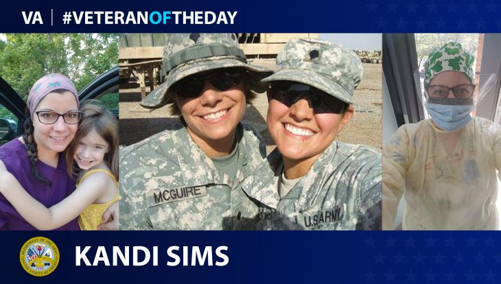 Army Veteran Kandi Sims is today's Veteran of the Day.
