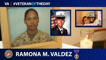 Marine Veteran Ramona M. Valdez is today's Veteran of the Day.