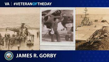 Navy Veteran James R. Gorby is today's Veteran of the Day.