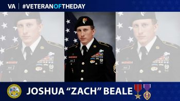 Army Veteran Joshua Beale is today's Veteran of the Day.