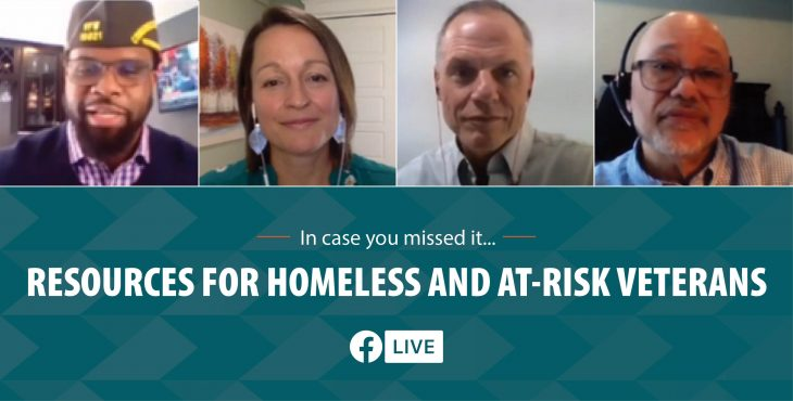VA and VFW FB Live on homeless resources during pandemic