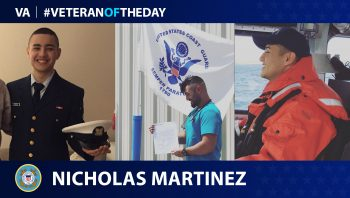 Coast Guard Veteran Nicholas Martinez is today's Veteran of the Day.