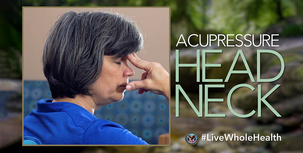 Acupressure for head and neck pain relief