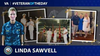 Navy Veteran Linda Sawvell is today's Veteran of the Day.