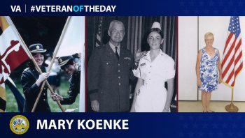 Army Veteran Mary F. Scherer Koenke is today's Veteran of the Day.