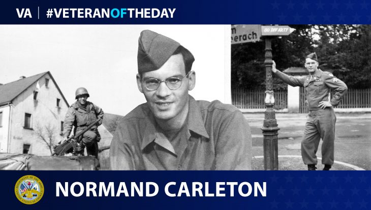 Army Veteran Normand Henry Carleton is today's Veteran of the Day.