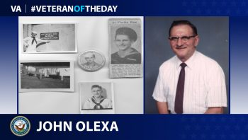 Navy Veteran John Olexa is today's Veteran of the Day.