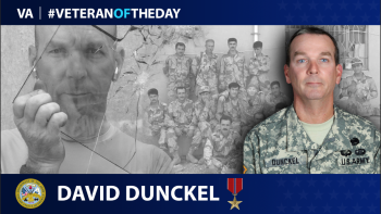 Army Veteran David Dunckel is today's Veteran of the Day.