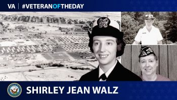 Navy Veteran Shirley Jean Walz is today's Veteran of the Day.