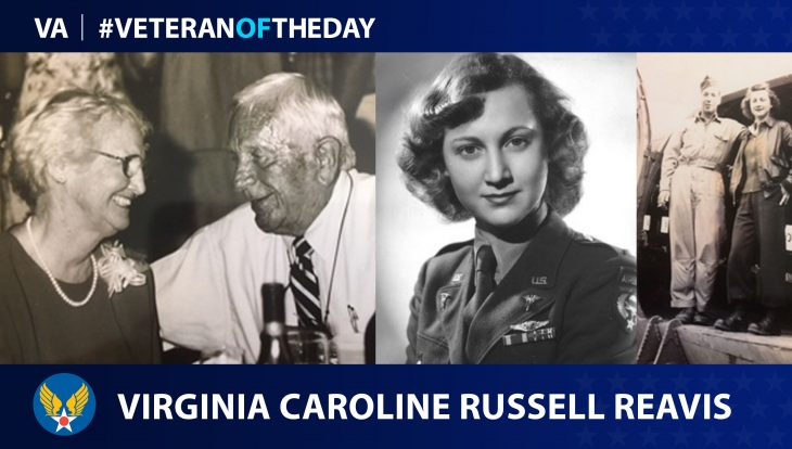 Army Air Forces Veteran Virginia Caroline Russell Reavis is today's Veteran of the Day.