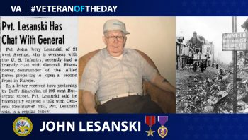 "Army Veteran John ""Jerry"" Lesanski is today's Veteran of the Day."