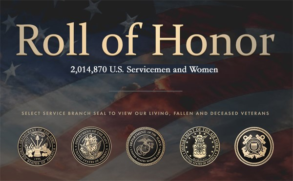 together we served graphic roll of honor