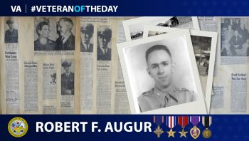 Army Veteran Robert Frank Augur is today's Veteran of the Day.