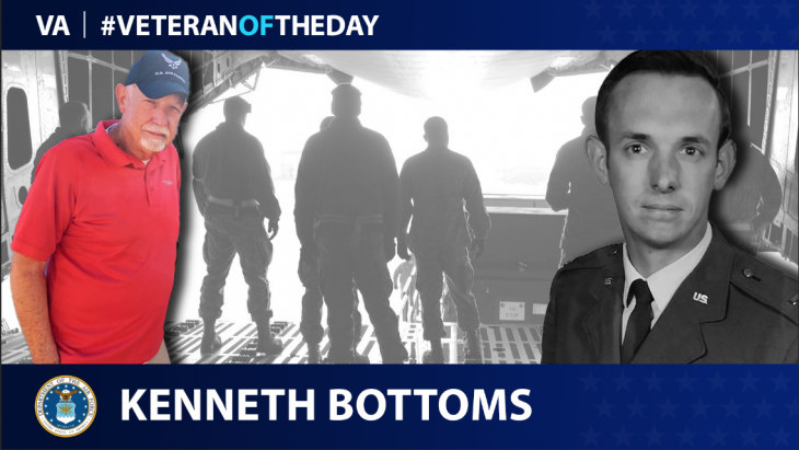 Air Force Veteran Kenneth Bottoms is today's Veteran of the Day.