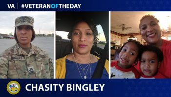 Army Veteran Chasity C. Bingley is today's Veteran of the Day.