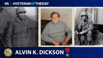Army Veteran Alvin K. Dickson is today's Veteran of the Day.