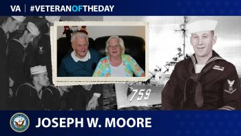 Navy Veteran Joseph Moore is today's Veteran of the Day.