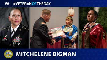 Army Veteran Mitchelene BigMan is today's Veteran of the Day.