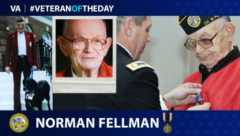 Army Veteran Norman Fellman is today's Veteran of the Day.