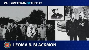 Marine Veteran Leoma Benjiman Blackmon is today's Veteran of the Day.