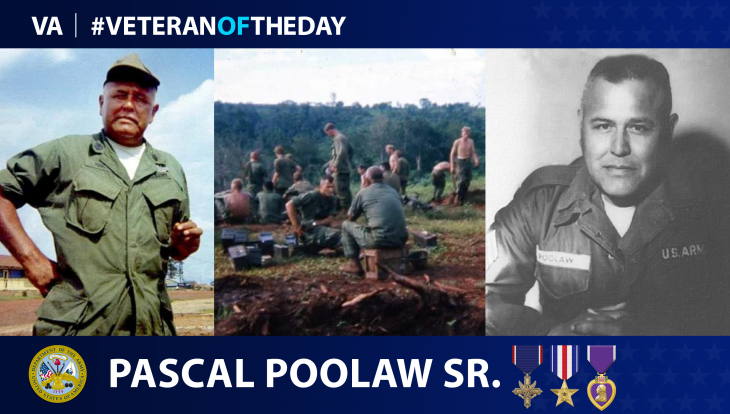 Army Veteran Pascal Poolaw Sr. is today's Veteran of the Day.