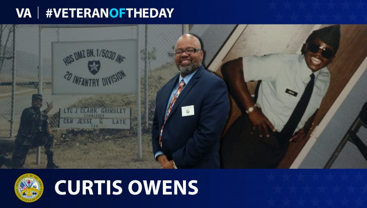 Army Veteran Curtis Owens is today's Veteran of the Day.