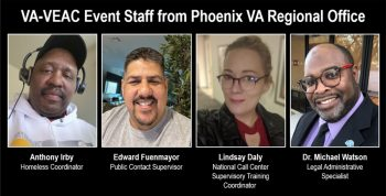Montage photo of four VA employees