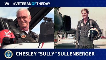 """Air Force Veteran Chesley """"Sully"""" Sullenberger is today's Veteran of the Day."""