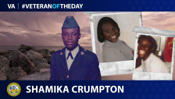 Army Veteran Shamika Crumpton is today's Veteran of the Day.
