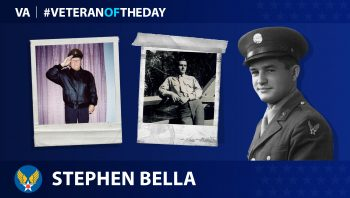 Army Air Forces Veteran Stephen J. Bella is today's Veteran of the Day.