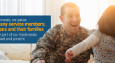 easterseals graphic with military member and child