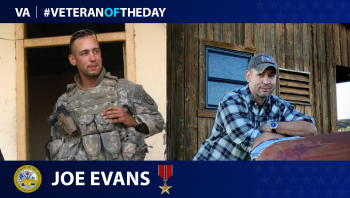 Army Veteran Joes Evans is today's Veteran of the Day.