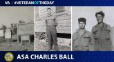 "Army Veteran Asa Charles ""Bud"" Ball is today's Veteran of the day."