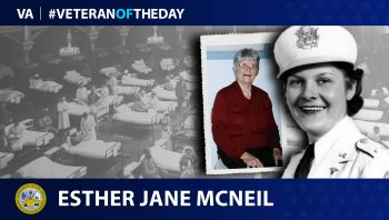 Army Veteran Esther Jane McNeil is today's Veteran of the day.