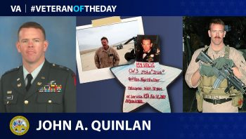 Army and Marine Corps Veteran John A. Quinlan is today's Veteran of the Day.