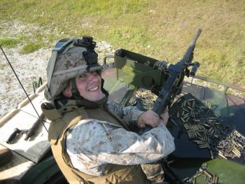 Nicholas Gatto in training at Marine Corps base Camp Lejeune in North Carolina in 2006.