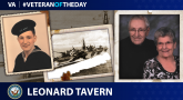 Navy Veteran Leonard Tavern is today's Veteran of the Day.