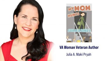 January's woman author is Navy and Air Force Veteran Julia Maki Pyrah, who served aboard P-3C Orions as an aviation systems warfare operator from 1997-2002.